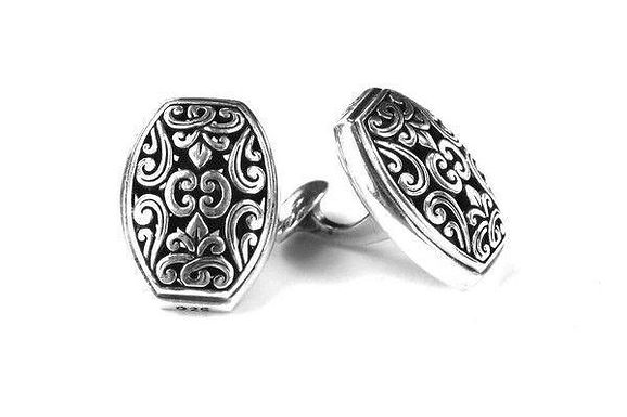 Hand Made Filigree sterling Silver Cuff Links