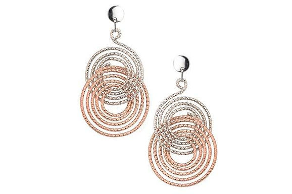 STERLING SILVER ROSE GOLD PLATED ELSA EARRING