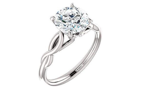 Infinity Solitaire Round Forever One™ Moissanite Engagement Ring