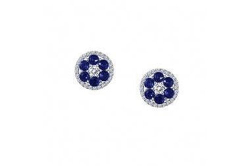 Round Cluster Studs CL/Sap Silver