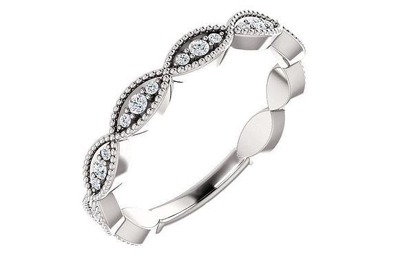 14K White 1/5 CTW Diamond Wedding Band 123093