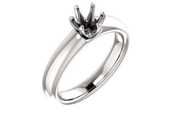 14K Gold Six Prong Solitaire Diamond Engagement Ring