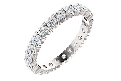 Platinum 1 3/8 CTW Diamond Round Eternity Band
