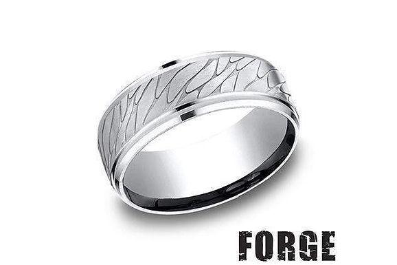 9MM Pebble- Cobalt Wedding Ring