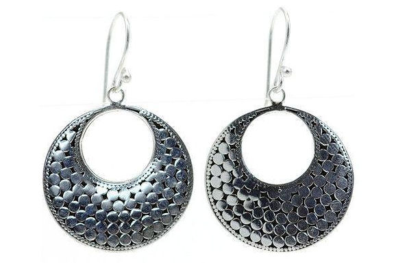 925 S. Silver Bola Large Disc Earrings