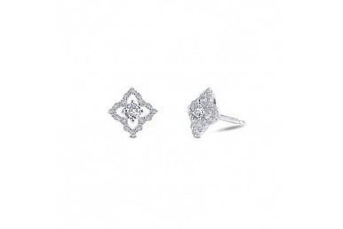 Silver Simulated Diamond Earrings