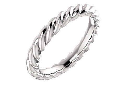 14K Rope Ring 3-MM