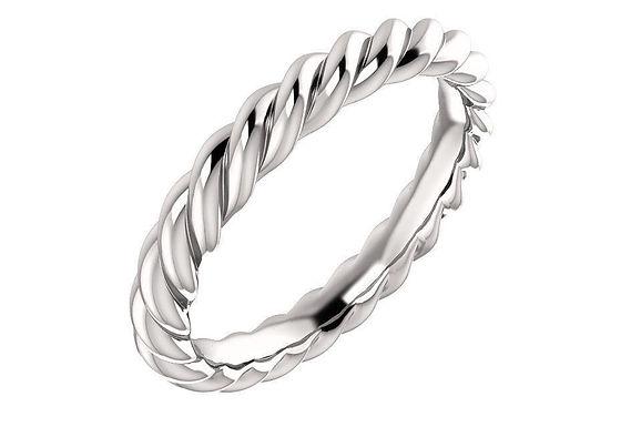 14K Rope Ring 3-MM