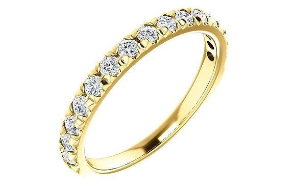 14K Gold 1/2 CTW Diamond French-Set Band