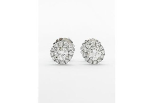Halo Stud Diamond Earring