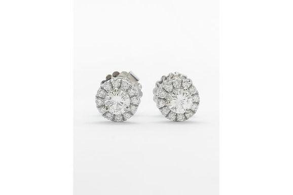 Halo Stud Diamond Earring