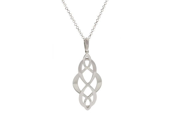 STERLING SILVER CELTIC SWIRL NECKLACE