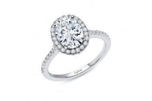 Oval Halo Ring R2013CLP