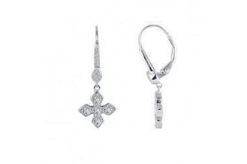 Maltese Cross Drop Earrings E0380CLP