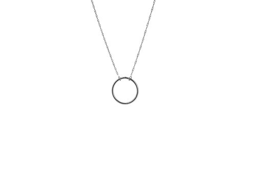 14KW Wire Circle Necklace