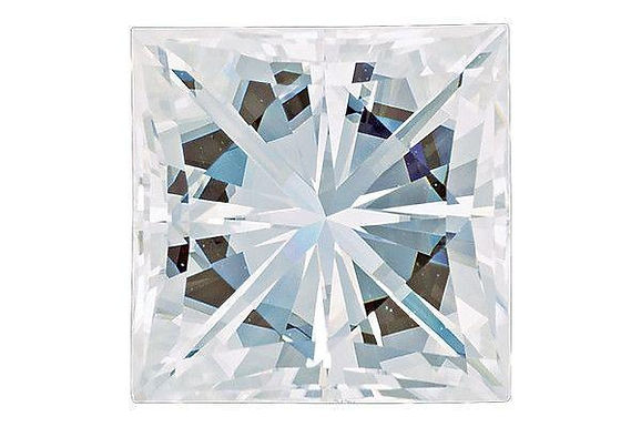 Forever One® Moissanite Square Princess cut Colorless D-E-F