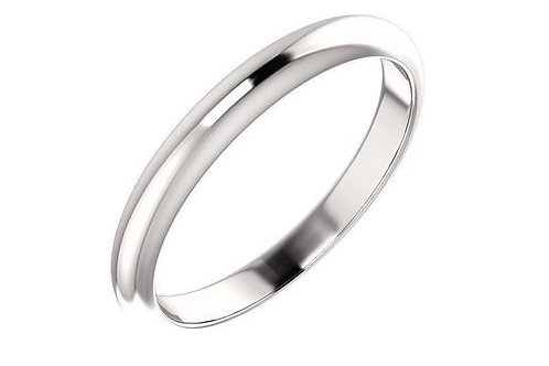 14K White Gold Wedding Band 3-mm