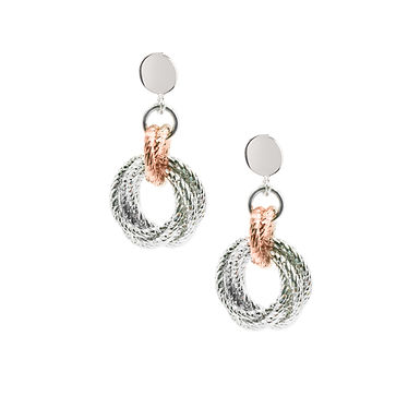 STERLING SILVER AND ROSE GOLD PLATED KAYLA EARRINGS