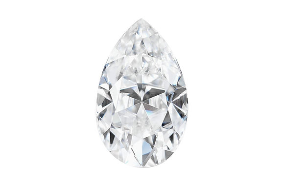Forever One Moissanite Pear Shape Colorless
