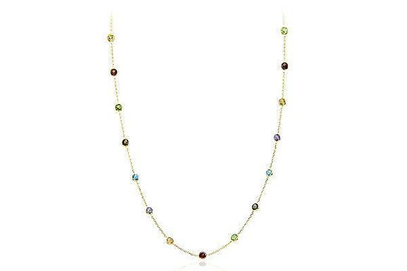 14K Gold Necklace With Gemstones By The Yard