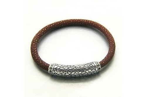 SS BROWN STINGRAY LEATHER BRACELET