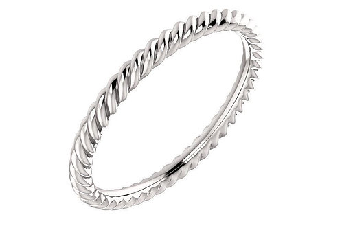 14K Rope Ring 2-MM