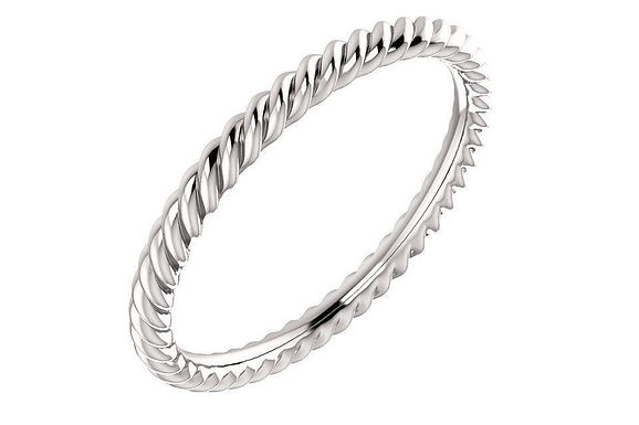 14K Rope Ring 2-MM