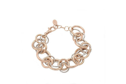 SS and Rose Gold PLated Willow Bracelet