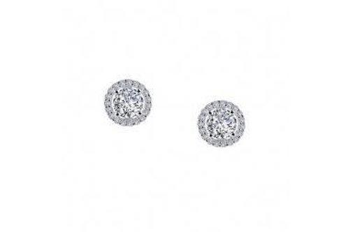Silver Lafonn Halo Stud Earrings E0328CLP