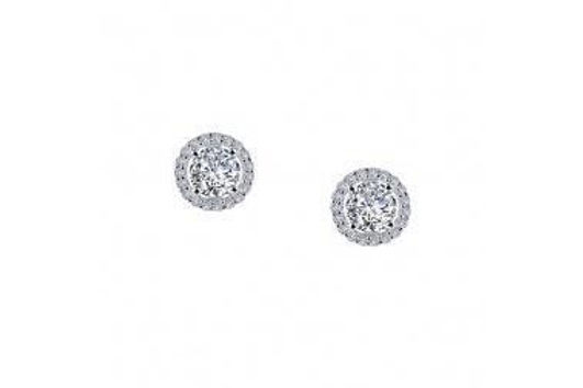 Silver Lafonn Halo Stud Earrings E0328CLP