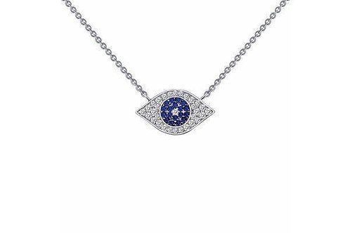 0.46cttw Evil Eye necklace 18""