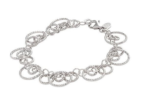 Sterling Silver Multi Ring Graduated Bracelet Frederic Duclos
