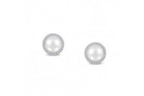 Fresh Water Pearl Halo Earrings E0235PLP00