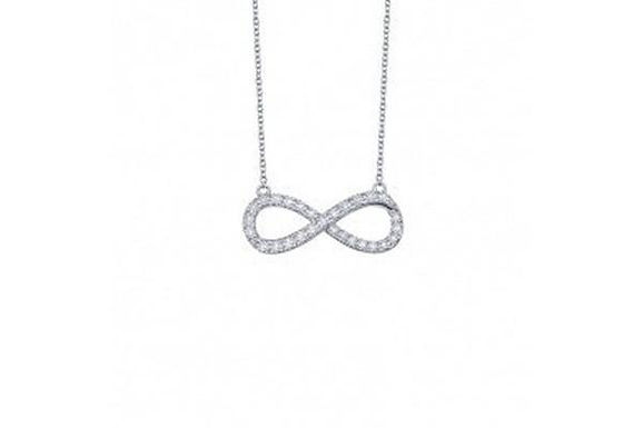 Silver infinity necklace N0017CLP18