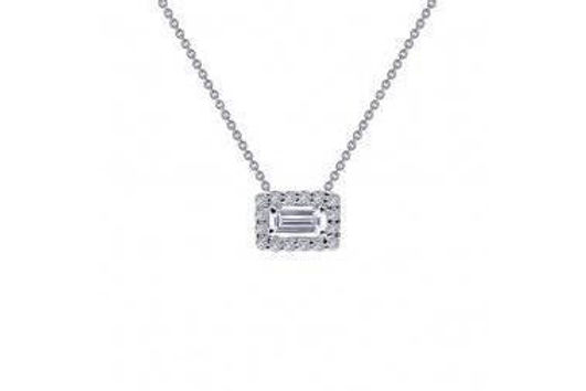 """HALO SILVER NECKLACE 18"""" N0105CLP"""