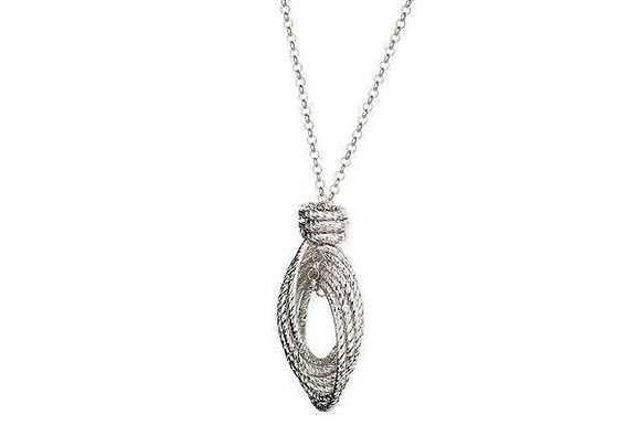 S Silver Infinity Twist Necklace.