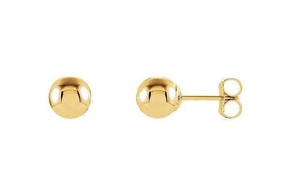14K Round Ball Earrings