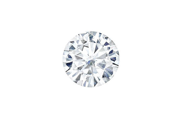 Forever One Moissanite Round Brilliant cut Colorless