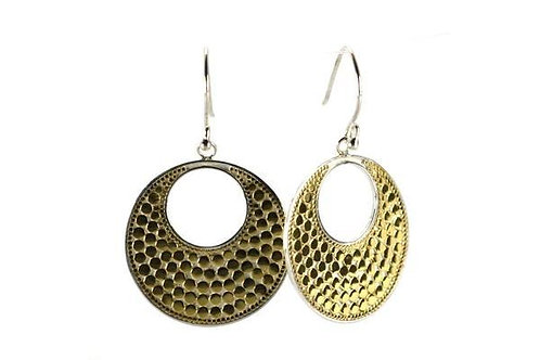 Gold Vermeil-Sterling Silver Bali Bola Round Earrings