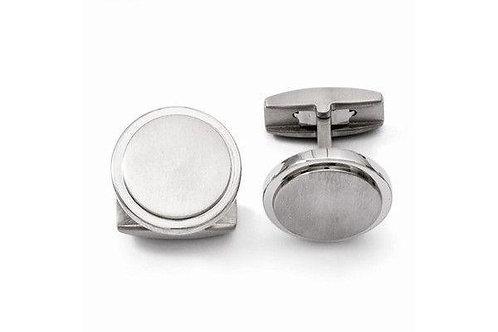 Titanium Round Cuff Links