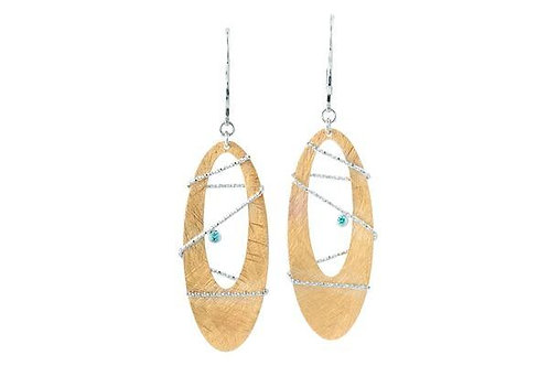 Sterling Silver Bt Gold Tone Borealis Earring