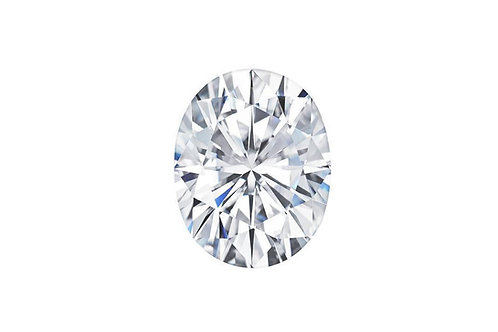 Oval cut Moissanite Colorless
