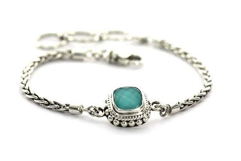 Silver Turquoise Bracelet Adjustable