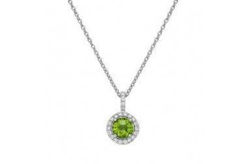 GEM PD PERIDOT/CL S.S. PT SIMULATED 0.22 CTTW PER RD:6.00MM