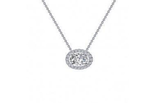 """HALO SILVER NECKLACE 18"""" N0103CLP"""