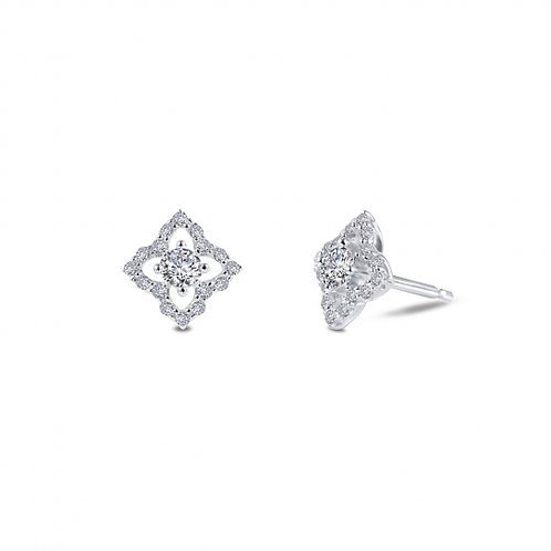 Silver Simulated Diamond Earrings