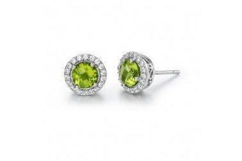GEM ER PERIDOT/CL S.S. PT SIMULATED 0.36 CTTW PER RD:6.00MM