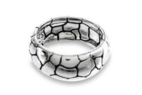 S.SILVER PEBBLE DESIGN RING