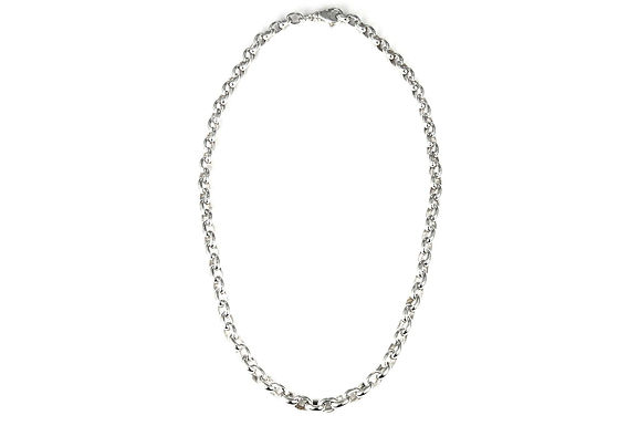 "S U R A 925 S. Silver Flowing Rolo Adj. Chain Necklace 21"""