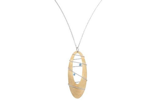 Sterling Silver Bt Gold Tone Borealis Necklace